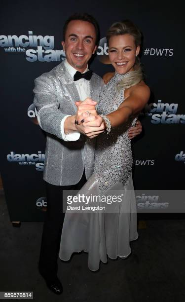 Actor Frankie Muniz and dancer Witney Carson attend 'Dancing with the Stars' season 25 at CBS Televison City on October 9 2017 in Los Angeles...