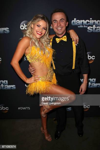 Actor Frankie Muniz and dancer Witney Carson pose at 'Dancing with the Stars' season 25 at CBS Televison City on November 6 2017 in Los Angeles...