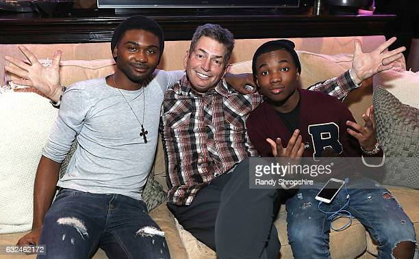 Actor Frankie Smith Barry Baker and actor Joshua Williams attend Google Home x Sundance x Wanderluxxe celebrate diversity at the home of Barry Amy...