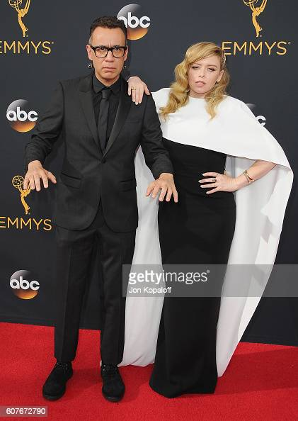Actor Fred Armisen and actress Natasha Lyonne arrive at the 68th Annual Primetime Emmy Awards at Microsoft Theater on September 18 2016 in Los...