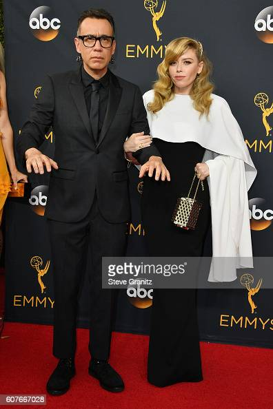 Actor Fred Armisen and actress Natasha Lyonne attend the 68th Annual Primetime Emmy Awards at Microsoft Theater on September 18 2016 in Los Angeles...