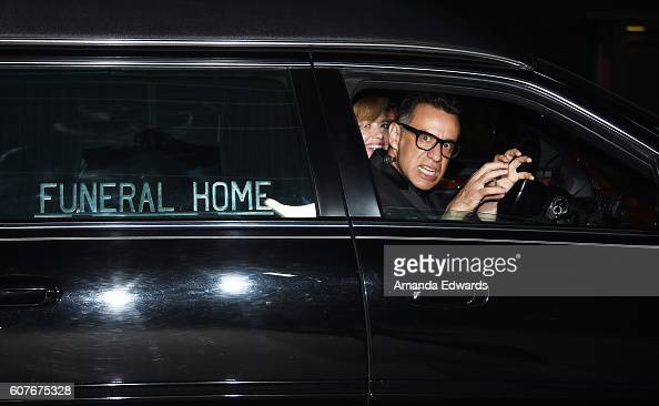 Actor Fred Armisen and actress Natasha Lyonne depart the AMC Networks' 68th Primetime Emmy Awards AfterParty Celebration at BOA Steakhouse on...