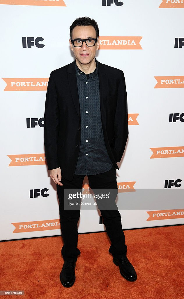 Actor Fred Armisen attends IFC's 'Portlandia' Season 3 New York Premiere at American Museum of Natural History on December 10, 2012 in New York City.