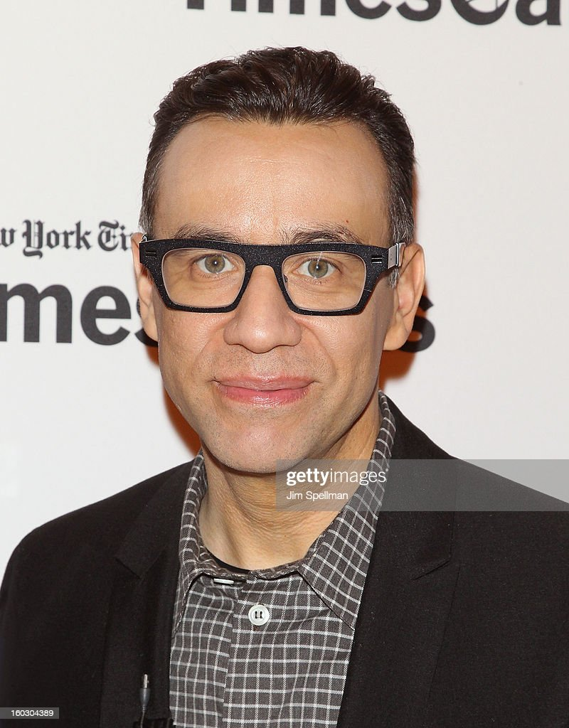 Actor <a gi-track='captionPersonalityLinkClicked' href=/galleries/search?phrase=Fred+Armisen&family=editorial&specificpeople=221426 ng-click='$event.stopPropagation()'>Fred Armisen</a> attends New York Times TimesTalks Presents: 'Portlandia' at TheTimesCenter on January 28, 2013 in New York City.