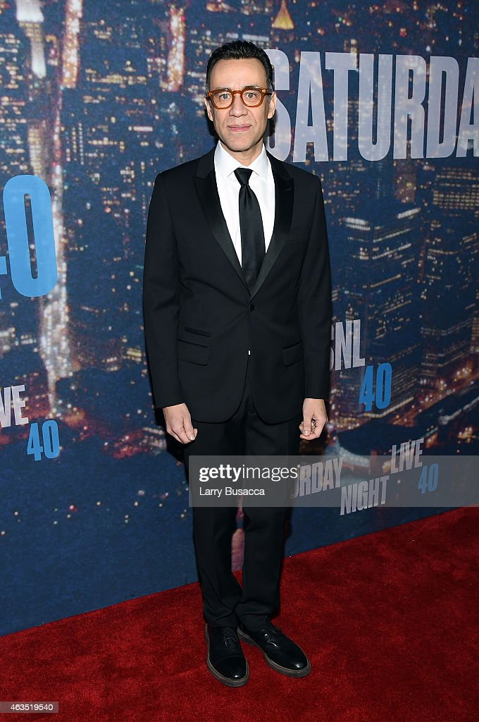 Actor Fred Armisen attends SNL 40th Anniversary Celebration at Rockefeller Plaza on February 15 2015 in New York City