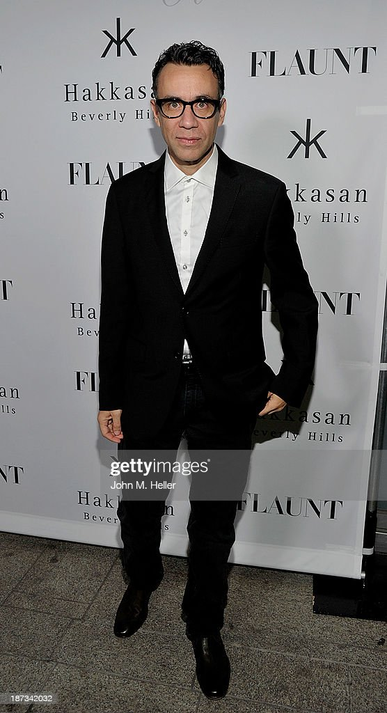 Actor <a gi-track='captionPersonalityLinkClicked' href=/galleries/search?phrase=Fred+Armisen&family=editorial&specificpeople=221426 ng-click='$event.stopPropagation()'>Fred Armisen</a> attends the Flaunt Magazine En Garde! Issue launch party with Selena Gomez and Amanda De Cadenet at Hakkasan Restaurant Beverly Hills on November 7, 2013 in Beverly Hills, California.