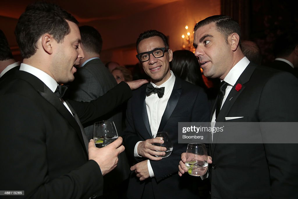 Actor <a gi-track='captionPersonalityLinkClicked' href=/galleries/search?phrase=Fred+Armisen&family=editorial&specificpeople=221426 ng-click='$event.stopPropagation()'>Fred Armisen</a>, center, attends the Bloomberg Vanity Fair White House Correspondents' Association (WHCA) dinner afterparty in Washington, D.C., U.S., on Saturday, May 3, 2014. The WHCA, celebrating its 100th anniversary, raises money for scholarships and honors the recipients of the organization's journalism awards. Photographer: Andrew Harrer/Bloomberg via Getty Images