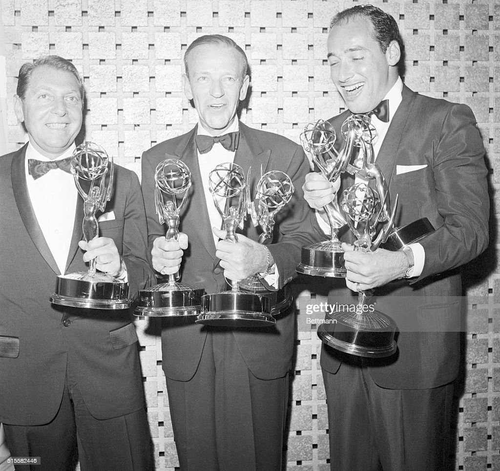 Actor <a gi-track='captionPersonalityLinkClicked' href=/galleries/search?phrase=Fred+Astaire&family=editorial&specificpeople=70031 ng-click='$event.stopPropagation()'>Fred Astaire</a> with the Emmy Awards he won for his television show 'An Evening with <a gi-track='captionPersonalityLinkClicked' href=/galleries/search?phrase=Fred+Astaire&family=editorial&specificpeople=70031 ng-click='$event.stopPropagation()'>Fred Astaire</a>.'