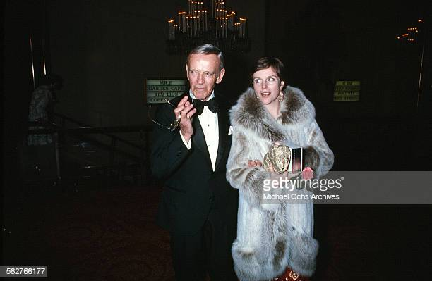 Actor Fred Astaire with wife Robyn Smith arrives to the 47th Academy Awards at Dorothy Chandler Pavilion in Los AngelesCalifornia