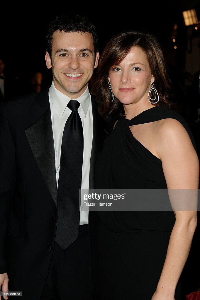 Actor Fred Savage and wife Jennifer Lynn Stone arrive at the 62nd Annual Directors Guild Of America Awards at the Hyatt Regency Century Plaza on...