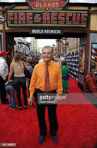 Actor Fred Willard attends the premiere of Disney's 'Planes Fire Rescue' at the El Capitan Theatre on July 15 2014 in Hollywood California