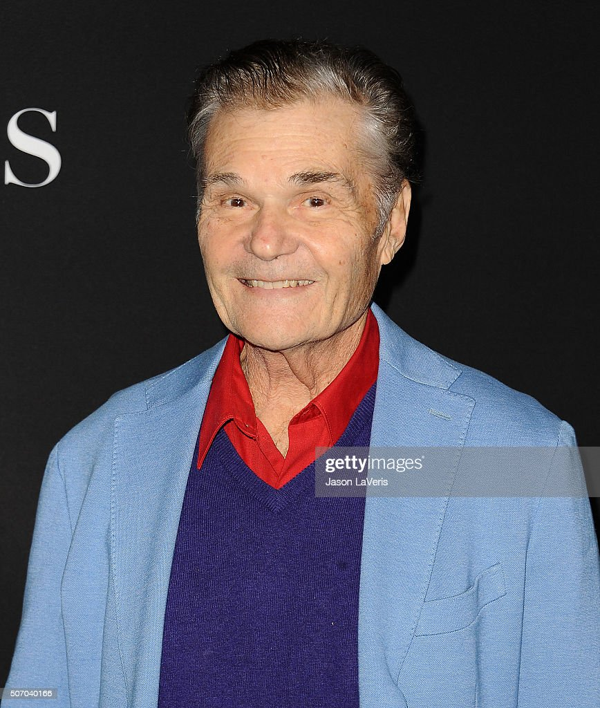 Actor Fred Willard attends the premiere of 'Fifty Shades of Black' at Regal Cinemas LA Live on January 26 2016 in Los Angeles California