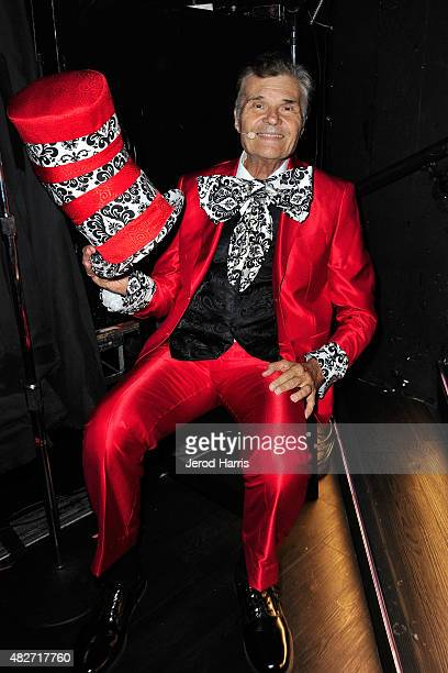 Actor Fred Willard backstage at the Kitty Bungalow Charm School for Wayward Cats presents CATbaret on August 1 2015 in Hollywood California