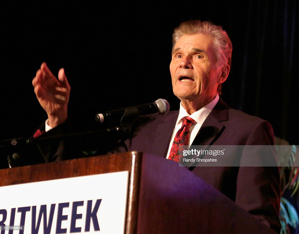 Actor <a gi-track='captionPersonalityLinkClicked' href=/galleries/search?phrase=Fred+Willard&family=editorial&specificpeople=206757 ng-click='$event.stopPropagation()'>Fred Willard</a> speaks onstage during BritWeek's 10th Anniversary VIP Reception & Gala at Fairmont Hotel on May 1, 2016 in Los Angeles, California.