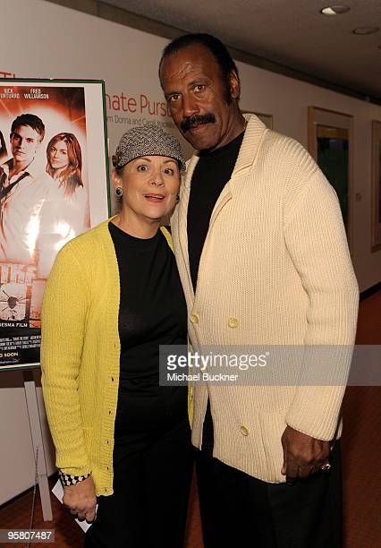 Actor Fred Williamson and wife Linda attend the screening of 'Shoot The Hero' at the 2010 Palm Springs International Film Festival at the Regal...