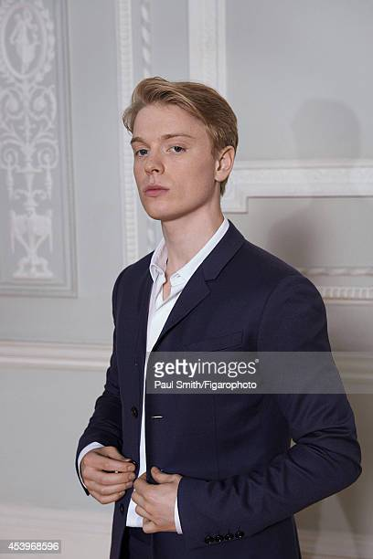 109772008 Actor Freddie Fox is photographed for Madame Figaro on April 28 2014 in London England Jacket and shirt PUBLISHED IMAGE CREDIT MUST READ...