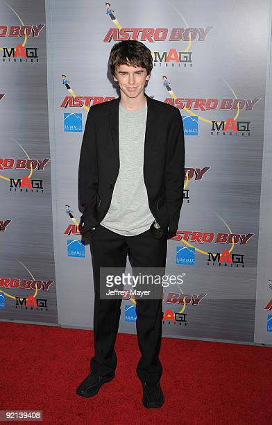 Actor Freddie Highmore arrives at The 'Astro Boy' Premiere at Mann Chinese 6 on October 19 2009 in Los Angeles California