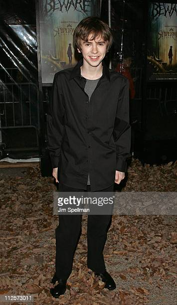 Actor Freddie Highmore arrives at the 'The Spiderwick Chronicles' Premiere at the AMC Lincoln Square on February 4 2008 in New York City