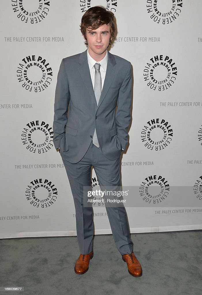 Actor Freddie Highmore arrivies to The Paley Center for Media Presents 'Bates Motel: Reimagining A Cinema Icon' at The Paley Center for Media on May 10, 2013 in Beverly Hills, California.