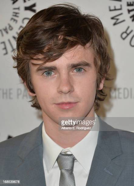 Actor Freddie Highmore arrivies to The Paley Center for Media Presents 'Bates Motel Reimagining A Cinema Icon' at The Paley Center for Media on May...