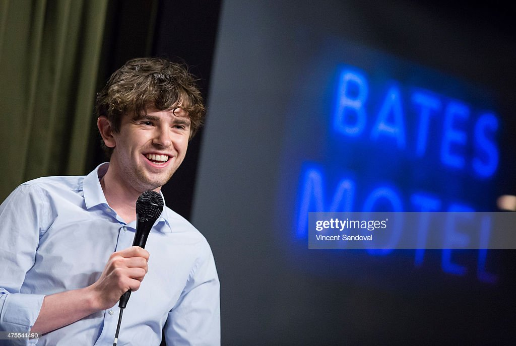 Actor Freddie Highmore attends a special screening and QA of 'Bates Motel' hosted by The SAG Foundation at SAG Foundation Actors Center on June 1...