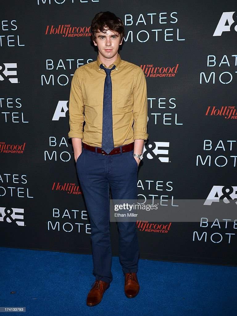 Actor Freddie Highmore attends A&E's 'Bates Motel' party during Comic-Con International 2013 at Gang Kitchen on July 20, 2013 in San Diego, California.