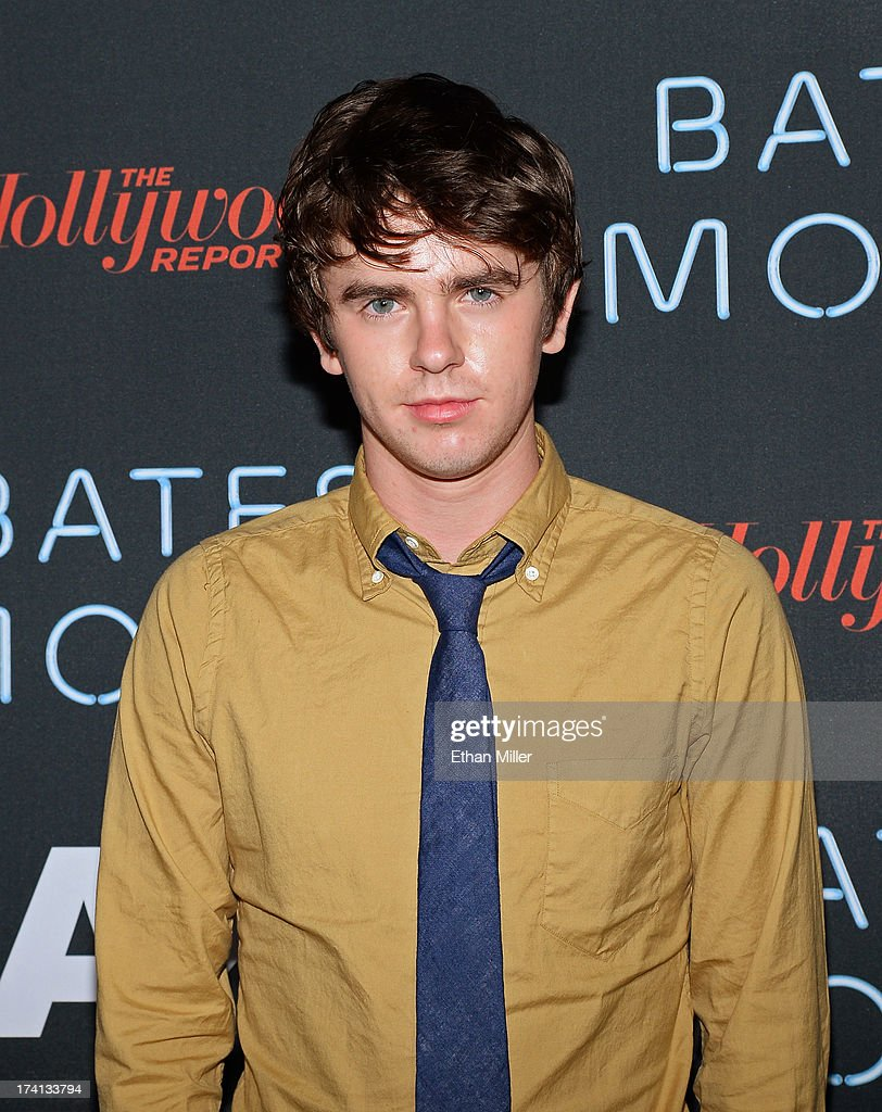 Actor <a gi-track='captionPersonalityLinkClicked' href=/galleries/search?phrase=Freddie+Highmore&family=editorial&specificpeople=210834 ng-click='$event.stopPropagation()'>Freddie Highmore</a> attends A&E's 'Bates Motel' party during Comic-Con International 2013 at Gang Kitchen on July 20, 2013 in San Diego, California.
