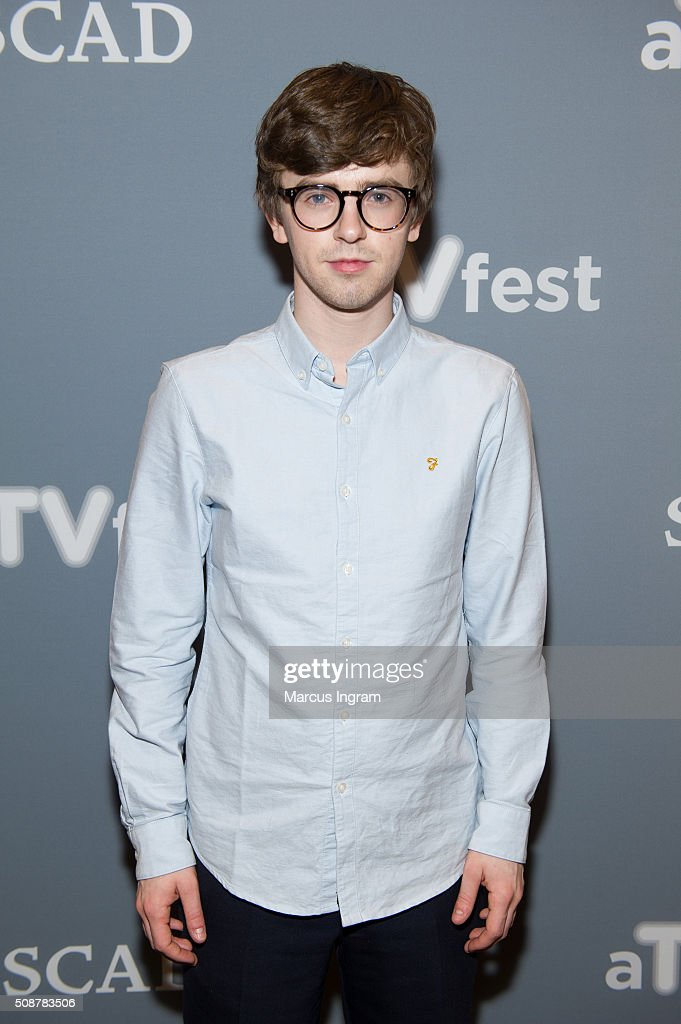 Actor <a gi-track='captionPersonalityLinkClicked' href=/galleries/search?phrase=Freddie+Highmore&family=editorial&specificpeople=210834 ng-click='$event.stopPropagation()'>Freddie Highmore</a> attends 'Bates Motel' event during SCAD aTVfest 2016 Day 3 at the Four Seasons Atlanta Hotel on February 6, 2016 in Atlanta, Georgia.
