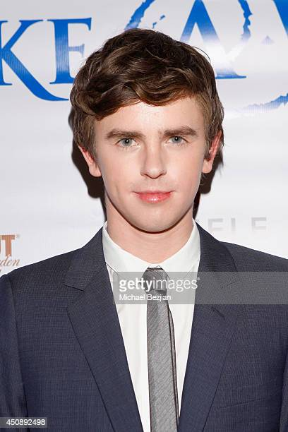 Actor Freddie Highmore attends the 4th Annual Critics' Choice Television Awards at The Beverly Hilton Hotel on June 19 2014 in Beverly Hills...
