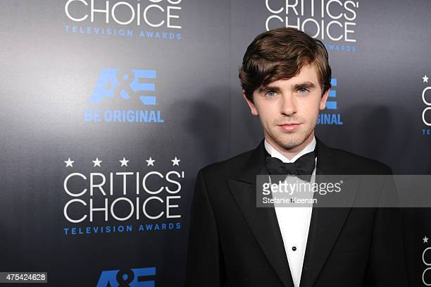 Actor Freddie Highmore attends the 5th Annual Critics' Choice Television Awards at The Beverly Hilton Hotel on May 31 2015 in Beverly Hills California