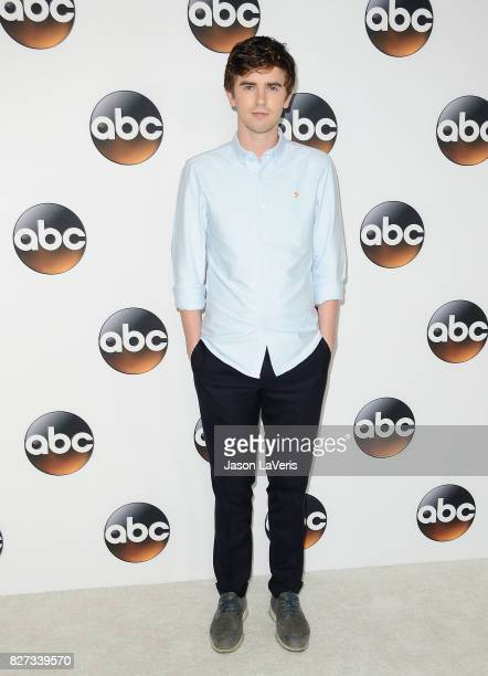 Actor Freddie Highmore attends the Disney ABC Television Group TCA summer press tour at The Beverly Hilton Hotel on August 6 2017 in Beverly Hills...