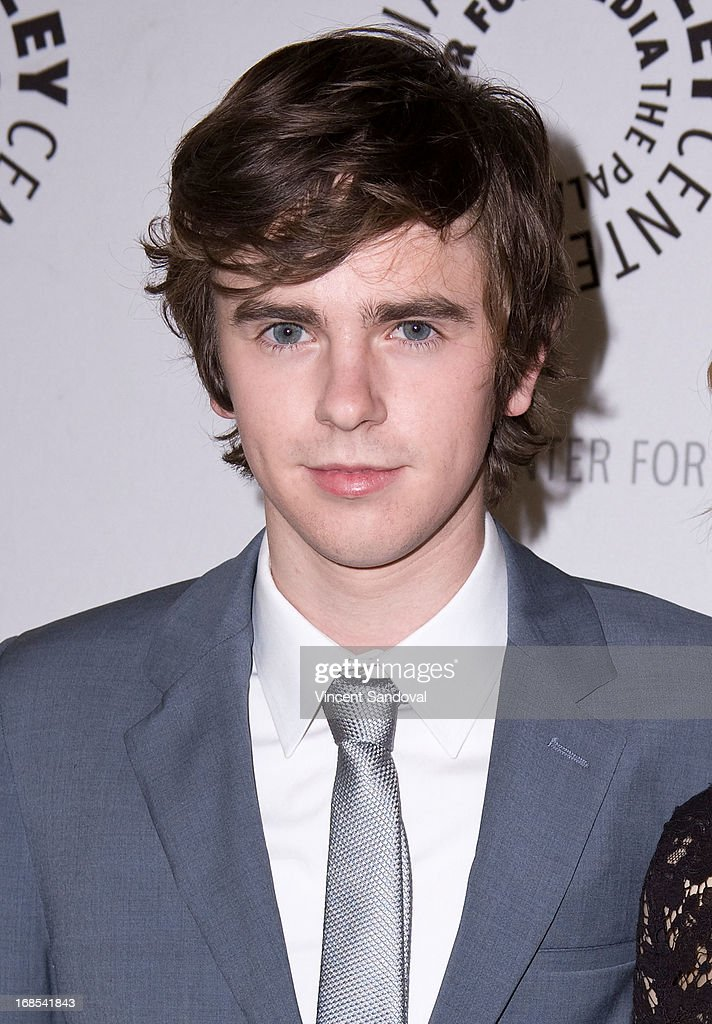 Actor <a gi-track='captionPersonalityLinkClicked' href=/galleries/search?phrase=Freddie+Highmore&family=editorial&specificpeople=210834 ng-click='$event.stopPropagation()'>Freddie Highmore</a> attends The Paley Center For Media presents 'Bates Motel: Reimagining a Cinema Icon' at The Paley Center for Media on May 10, 2013 in Beverly Hills, California.