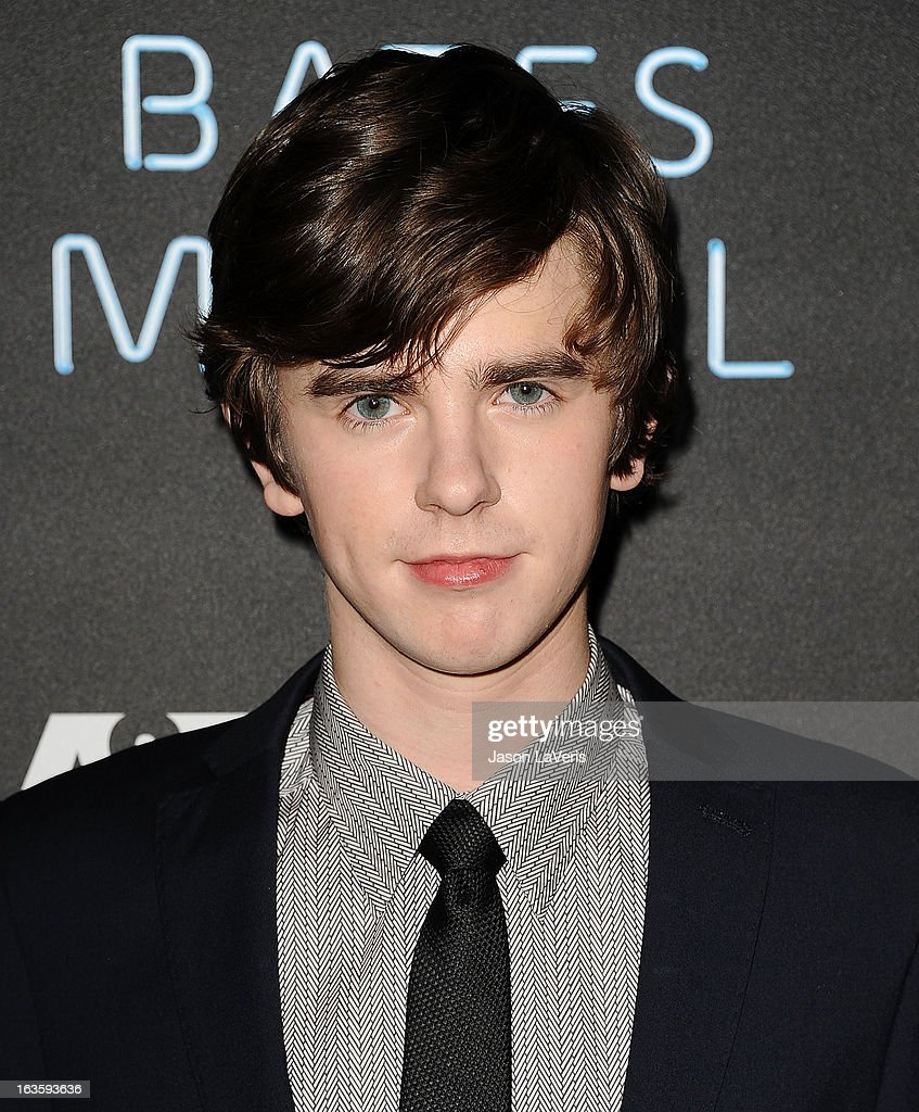 Actor <a gi-track='captionPersonalityLinkClicked' href=/galleries/search?phrase=Freddie+Highmore&family=editorial&specificpeople=210834 ng-click='$event.stopPropagation()'>Freddie Highmore</a> attends the premiere of 'Bates Motel' at Soho House on March 12, 2013 in West Hollywood, California.