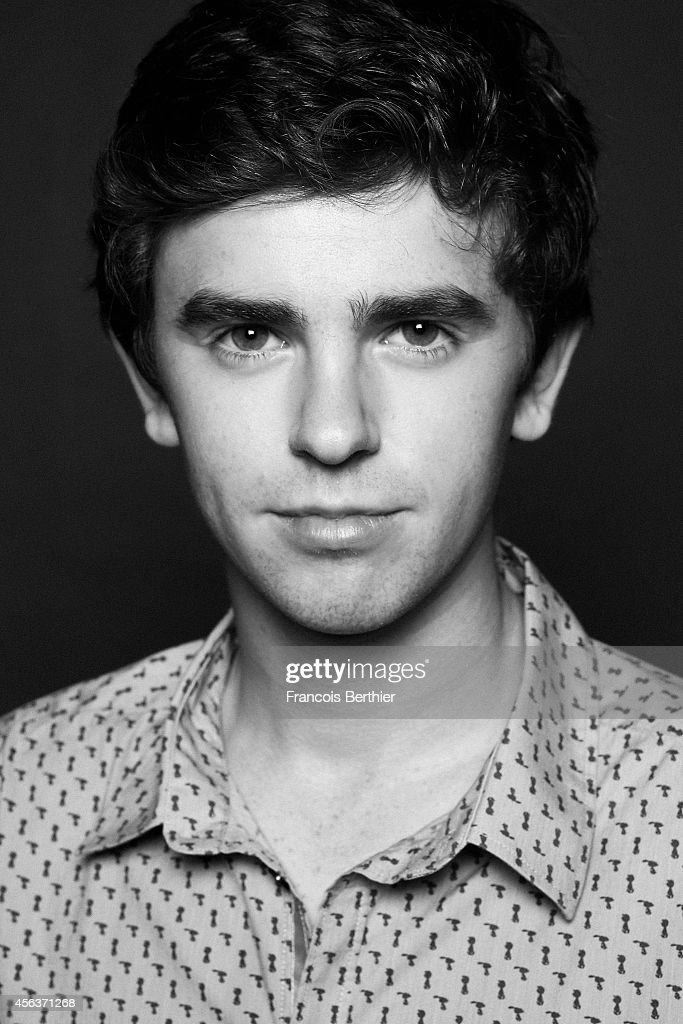Actor Freddie Highmore is photographed for Self Assignment on September 8 2014 in Deauville at Villa Cartier France