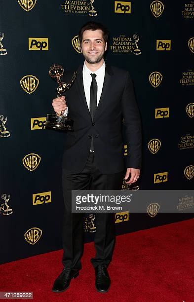 Actor Freddie Smith accepts Outstanding Younger Actor in a Drama Series award for 'Days of Our Lives' poses in the press room during The 42nd Annual...