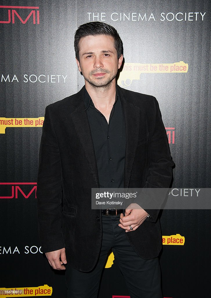 Actor Freddy Rodriguez attends The Weinstein Company With The Cinema Society And Tumi Host A Screening Of 'This Must Be the Place' at Tribeca Grand Hotel on October 25, 2012 in New York City.