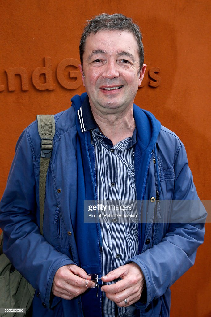 Actor frederic Bouraly attends Day Height of the 2016 French Tennis Open at Roland Garros on May 29, 2016 in Paris, France.