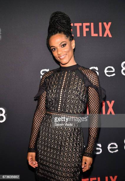 Actor FreemaAgyeman attends 'Sense8' New York Premiere at AMC Lincoln Square Theater on April 26 2017 in New York City