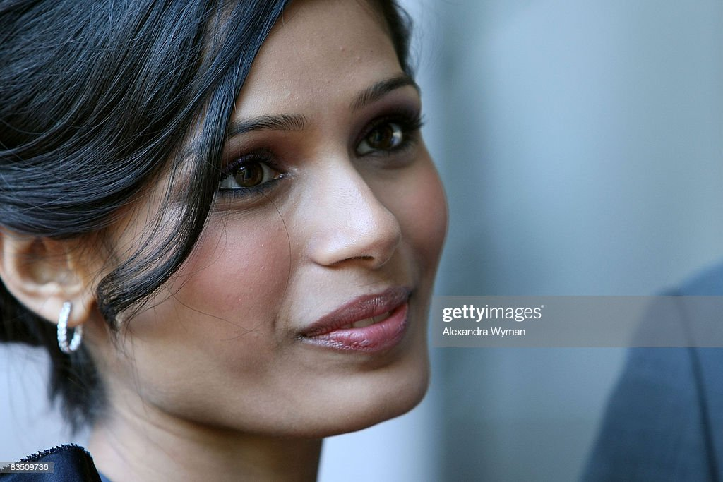 Actor Freida Pinto arrives at the premiere of 'Slumdog Millionaire' held at Flow Resturant during the 2008 Toronto International Film Festival on Septmeber 7, 2008 in Toronto, Canada.