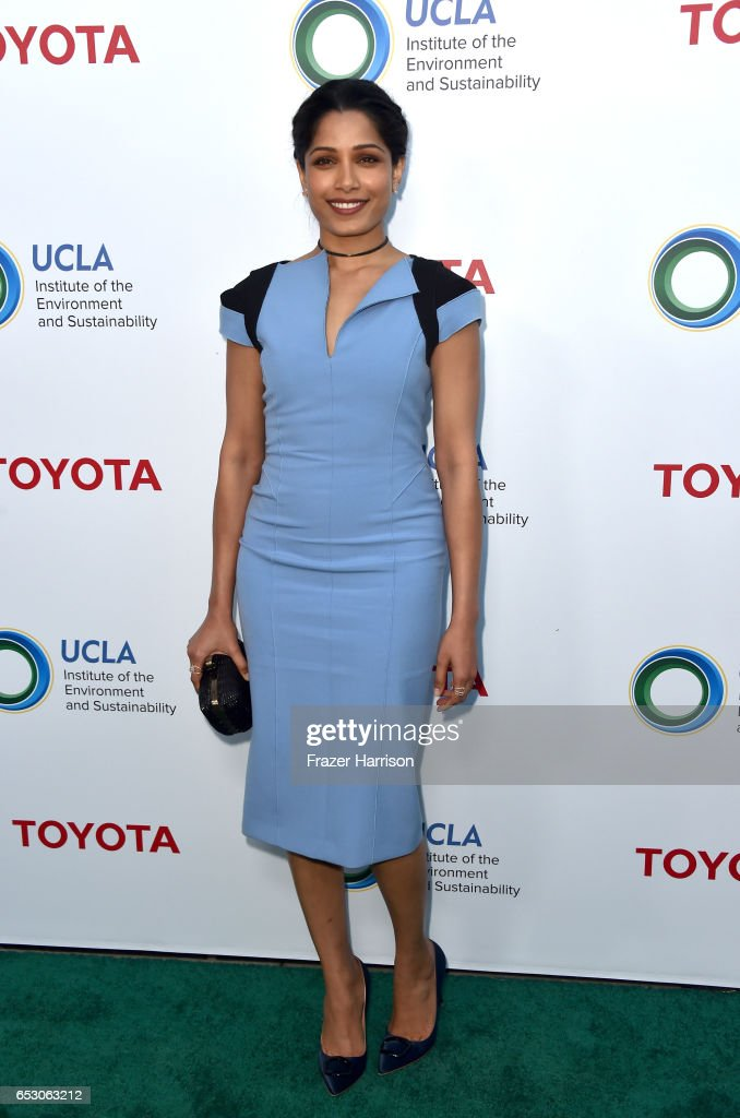 Actor Freida Pinto at UCLA Institute of the Environment and Sustainability celebrates Innovators For A Healthy Planet at a private residence on March 13, 2017 in Beverly Hills, California.