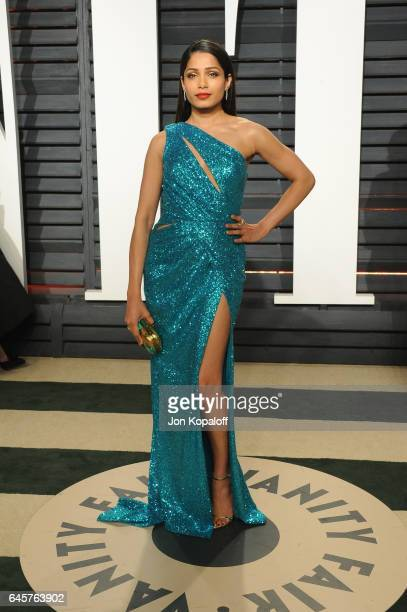 Actor Freida Pinto attends the 2017 Vanity Fair Oscar Party hosted by Graydon Carter at Wallis Annenberg Center for the Performing Arts on February...