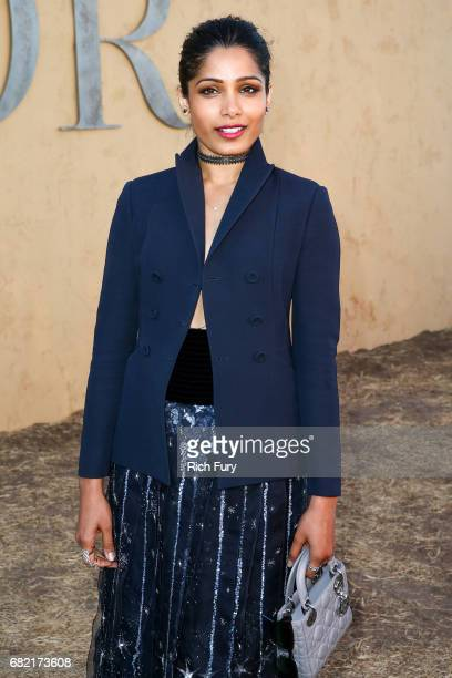 Actor Freida Pinto attends the Christian Dior Cruise 2018 Runway Show at the Upper Las Virgenes Canyon Open Space Preserve on May 11 2017 in Santa...