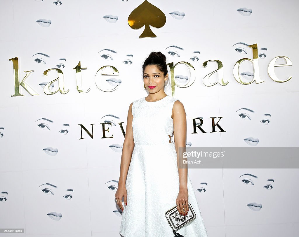 Actor <a gi-track='captionPersonalityLinkClicked' href=/galleries/search?phrase=Freida+Pinto&family=editorial&specificpeople=5518973 ng-click='$event.stopPropagation()'>Freida Pinto</a> is seen at the Kate Spade New York presentation during Fall 2016 New York Fashion Week at The Rainbow Room on February 12, 2016 in New York City.