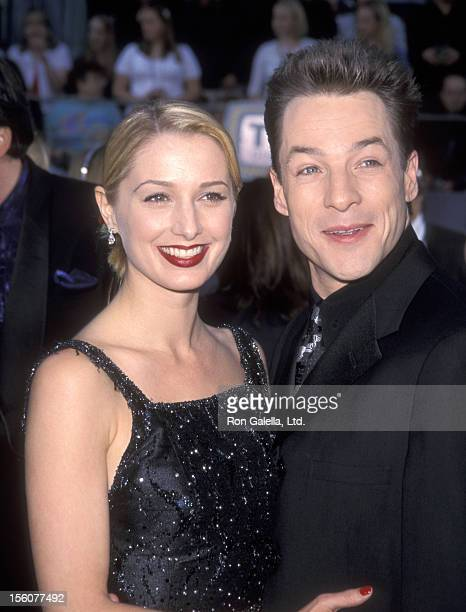 Actor French Stewart and wife Actress Katherine LaNasa attend the First Annual TV Guide Awards on February 1 1999 at 20th Century Fox Studios in...