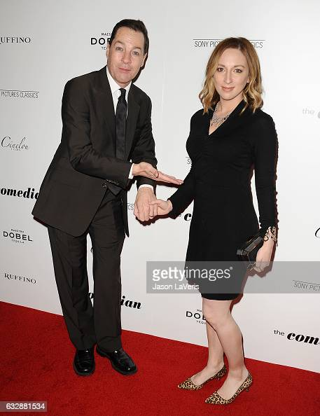 Actor French Stewart and wife Vanessa Claire Stewart attend the premiere of 'The Comedian' at Pacific Design Center on January 27 2017 in West...