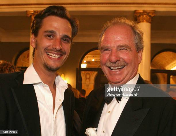 Actor Friedrich von Thun with his son Max von Thun at the 'Blaue Panther' Bavarian Television Award 2007 Ceremony at the Prinzregenten Theater on May...