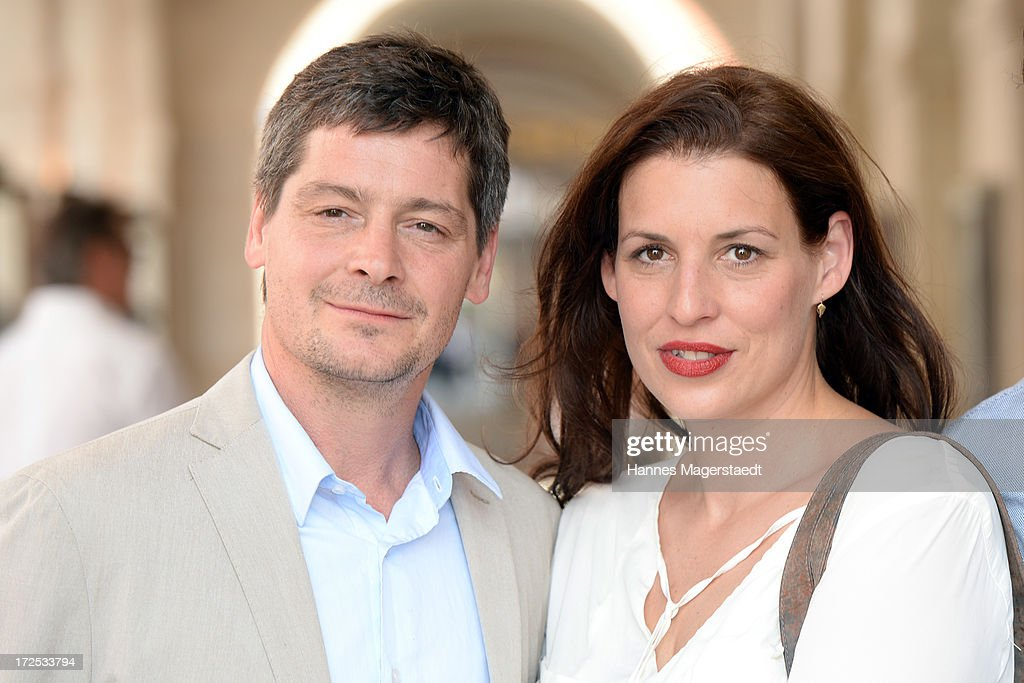 Actor Fritz Karl and Elena Uhlig attend the ZDF Reception during the Munich Film Festival 2013 at H'ugo's on July 2, 2013 in Munich, Germany.