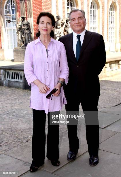 Actor Fritz Wepper and actress Gudrun Landgrebe attend a 'Vater Aus Heiterem Himmel' Photocall on July 21 2010 in Potsdam Germany