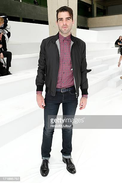 Actor from 'Star Trek Into Darkness' Zachary Quinto attends Dior Homme Menswear Spring/Summer 2014 Show as part of the Paris Fashion Week on June 29...