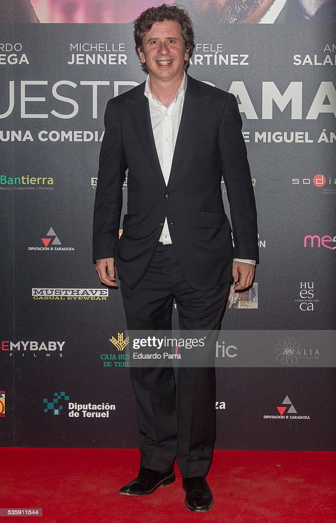 Actor Gabino Diego attends the 'Nuestros Amantes' premiere at Palafox cinema on May 30, 2016 in Madrid, Spain.